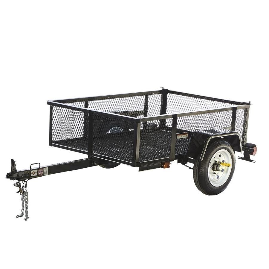 Carry-On Trailer 3.5-ft x 5-ft Wire Mesh Utility Trailer | Bike ...