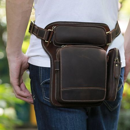 Personalized detachable leather fanny pack  c3163e5c9a178