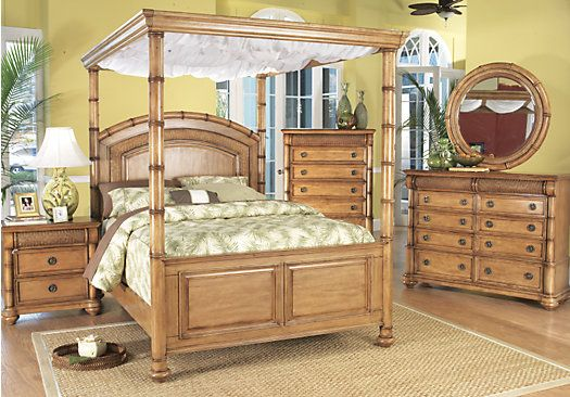 For A Cindy Crawford Home Key West Pine Canopy 6 Pc Queen Bedroom At Rooms To Go Find Sets That Will Look Great In Your And Complement
