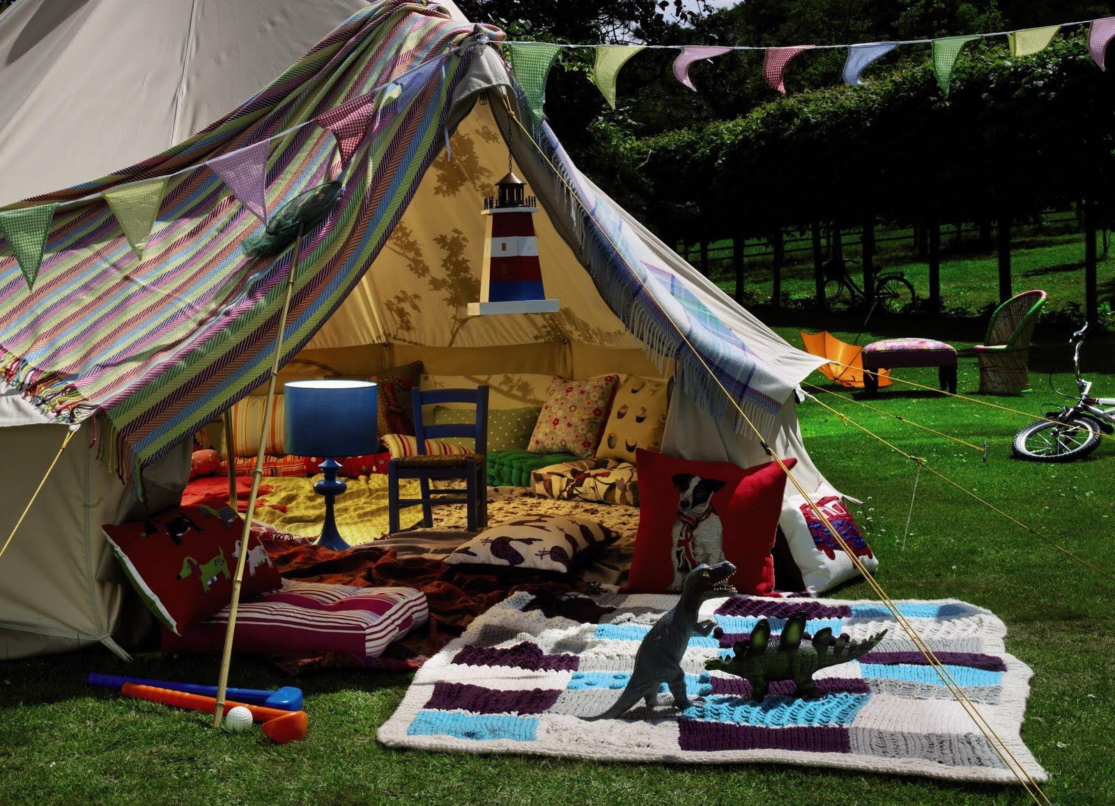 what is it? it is a glamping tent, darling! a glamorous tent ...