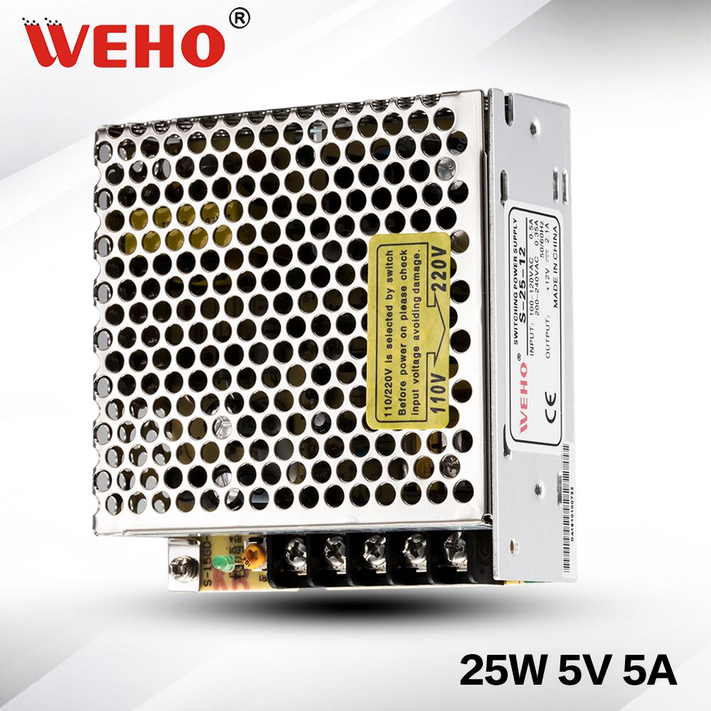 S 25 5factory Outlet 25w Power Supply 5v 5a Led Switching 110 220 Volts Dual 5060hz 20 Amps