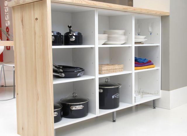 Barra cocina americana con mueble ikea ideas para el - Cocinas pequenas con barra americana ...