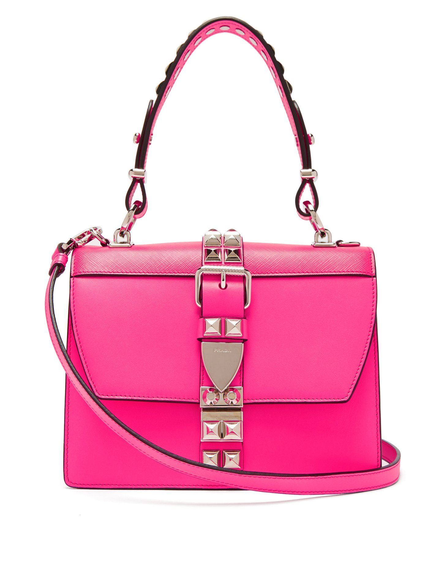 47a04d2ae067 PRADA Elektra studded leather shoulder bag £1,658 Prada Bag, Prada Handbags,  Bag Sale