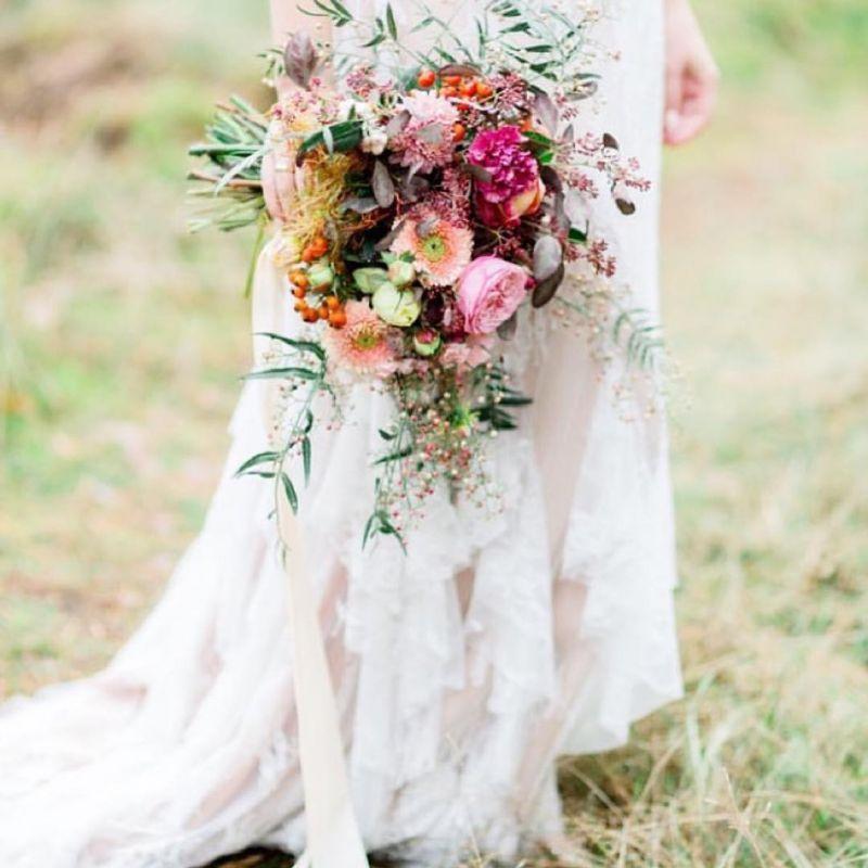 Blumen Fur Die Hochzeit Brautstrauss Silk And Magnolia Blumen