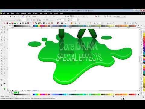 Using Special Effects In Coreldraw Coreldraw Design Coreldraw Corel Draw Tutorial