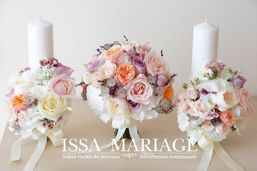 Buchet Mireasa Si Lumanari Nunta Buchete In 2019 Wedding