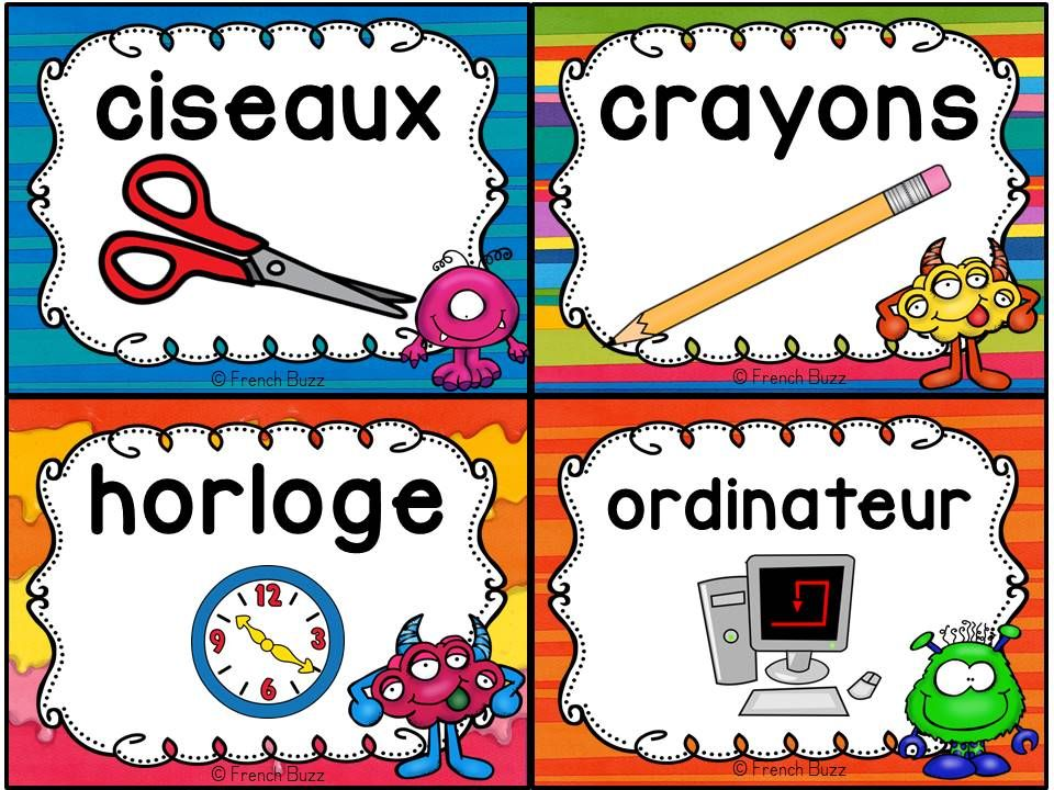 Exceptionnel 126 best vocabulaire images on Pinterest | French classroom  CA98