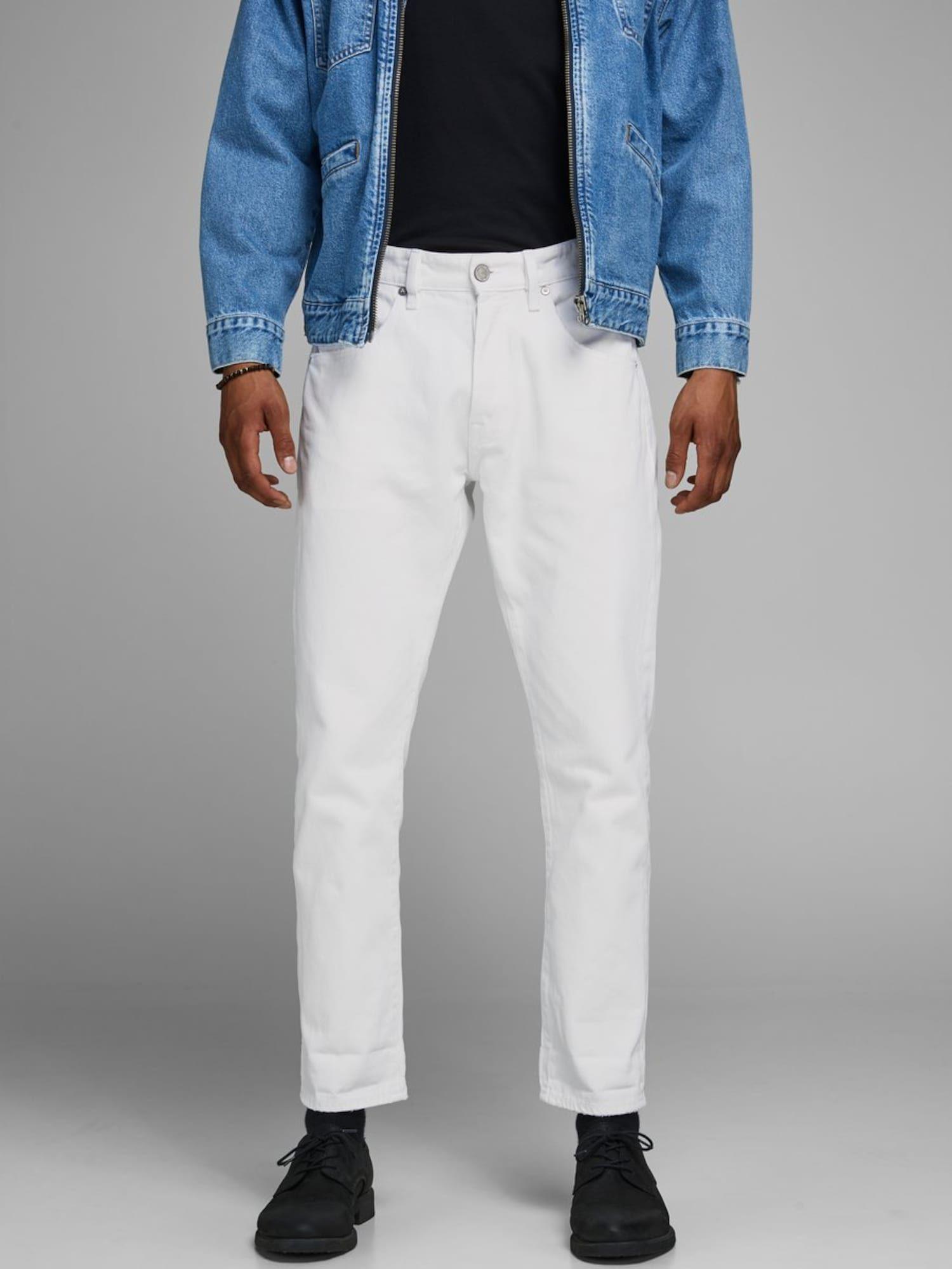 JACK & JONES Jeans 'Frank Leen CJ 454' Herren, Weiß, Größe 32 #whitepantsuit
