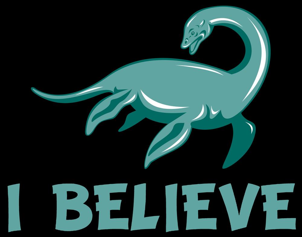 I Believe Nessie Loch Ness Monster Art Print By Awesomeart X Small Loch Ness Monster Monster Art Nessie Monster