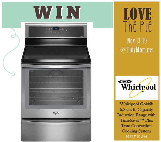 Love the Pie recipe party at TidyMom.net Nov 13-19 2012 enter to win a new Whirlpool range #LovethePie