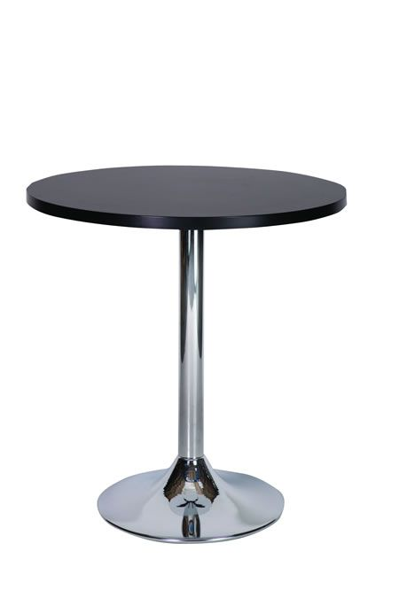 ramizon small compact 60 cm round black dining table with chrome rh pinterest co uk
