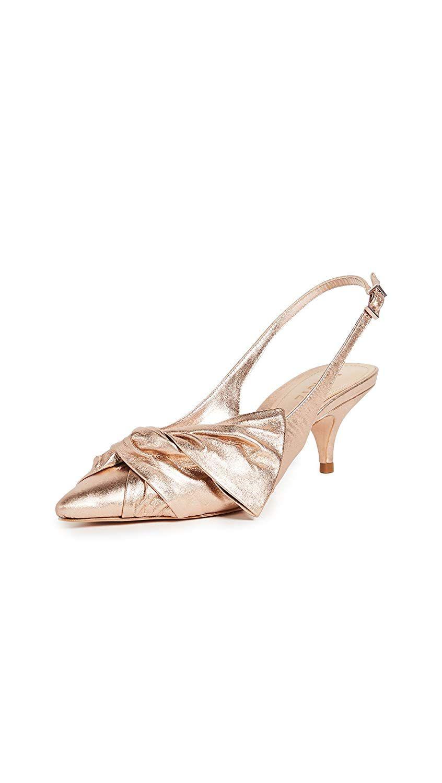 Schutz Women S Hirata Kitten Heel Slingbacks Why Not Make These Schutz Pumps A Present To Yourself 3f They Heels Kitten Heels