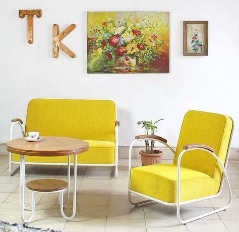 ruang tamu minimalis klasik vintage (dengan gambar