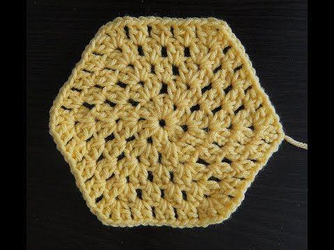 Hexagon (Traditional Style) Granny Square - YouTube | Crochet ...