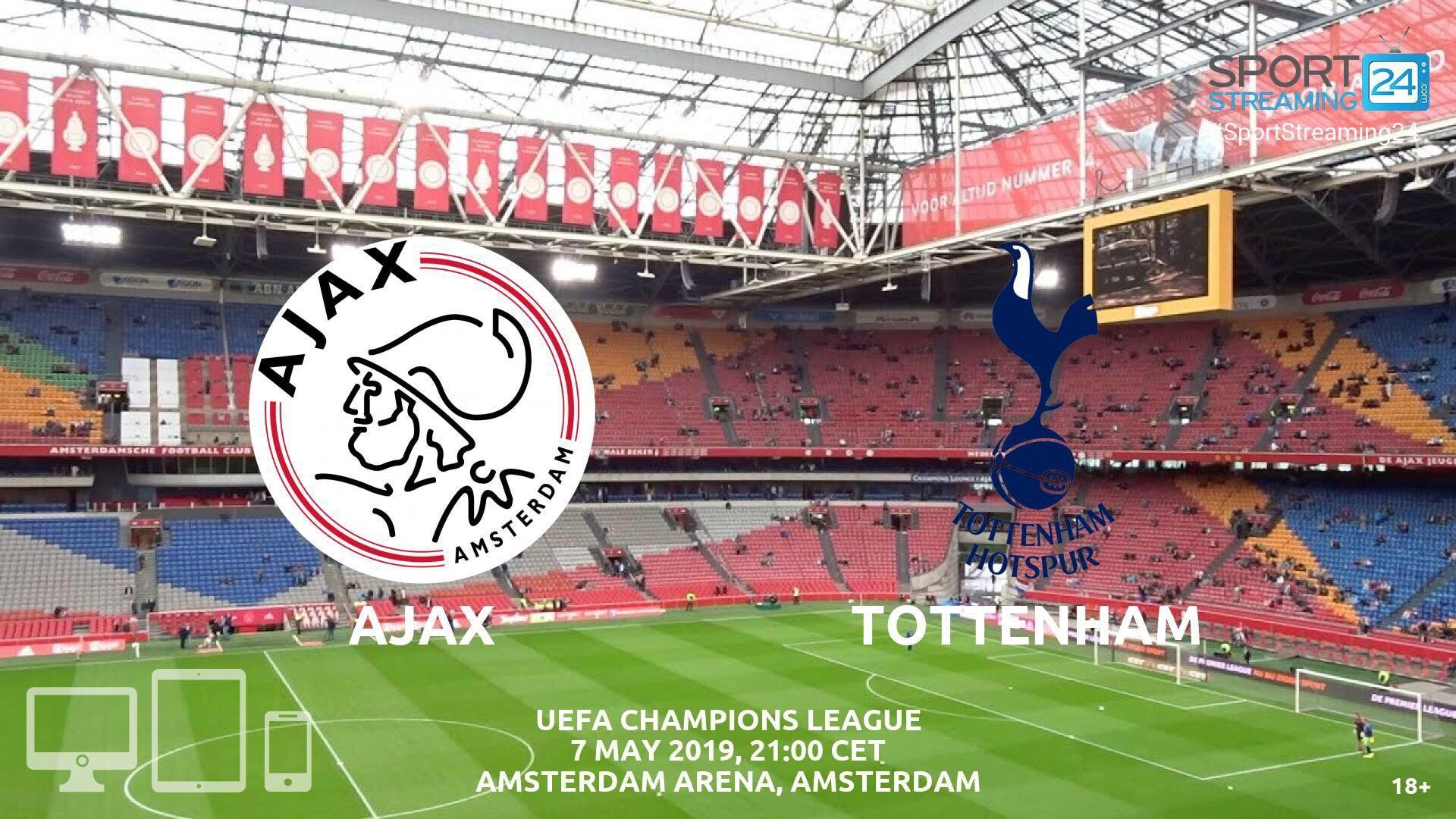Ajax v Tottenham Live Stream Betting Odds Champions