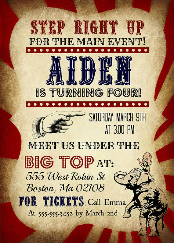 printable vintage circus invitations with tickets gala ideas