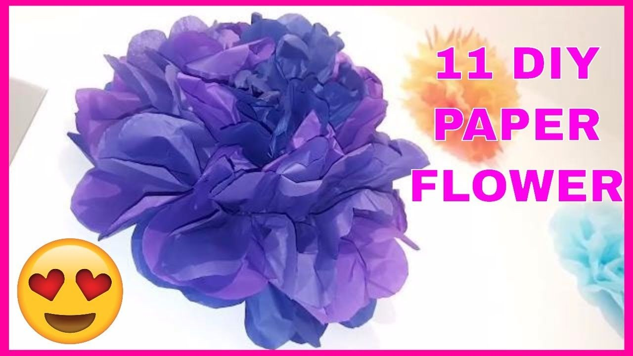 11 Diy Paper Flowers Wall Art Room Decor How To Make Paper Flower