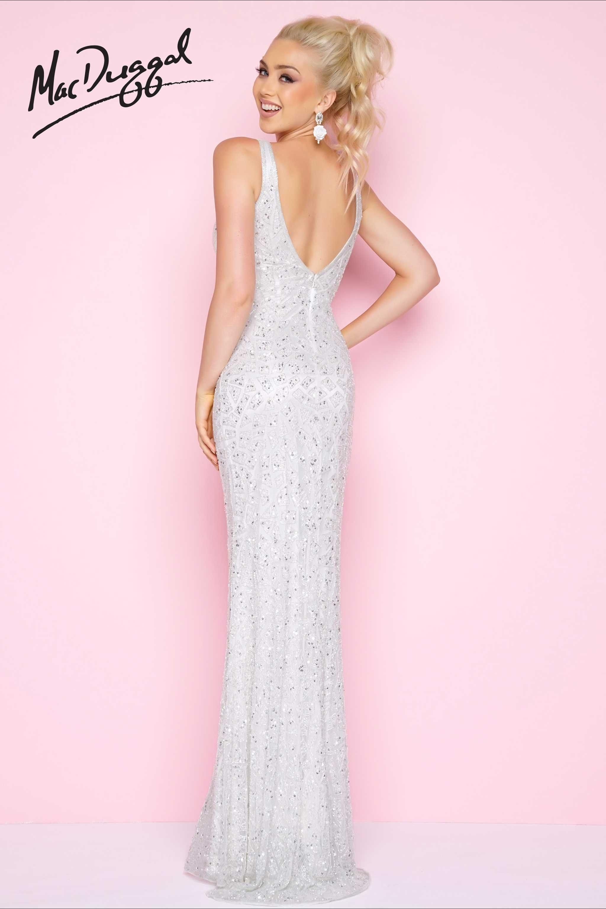 White sequined prom dress gowns pinterest prom sexy dresses