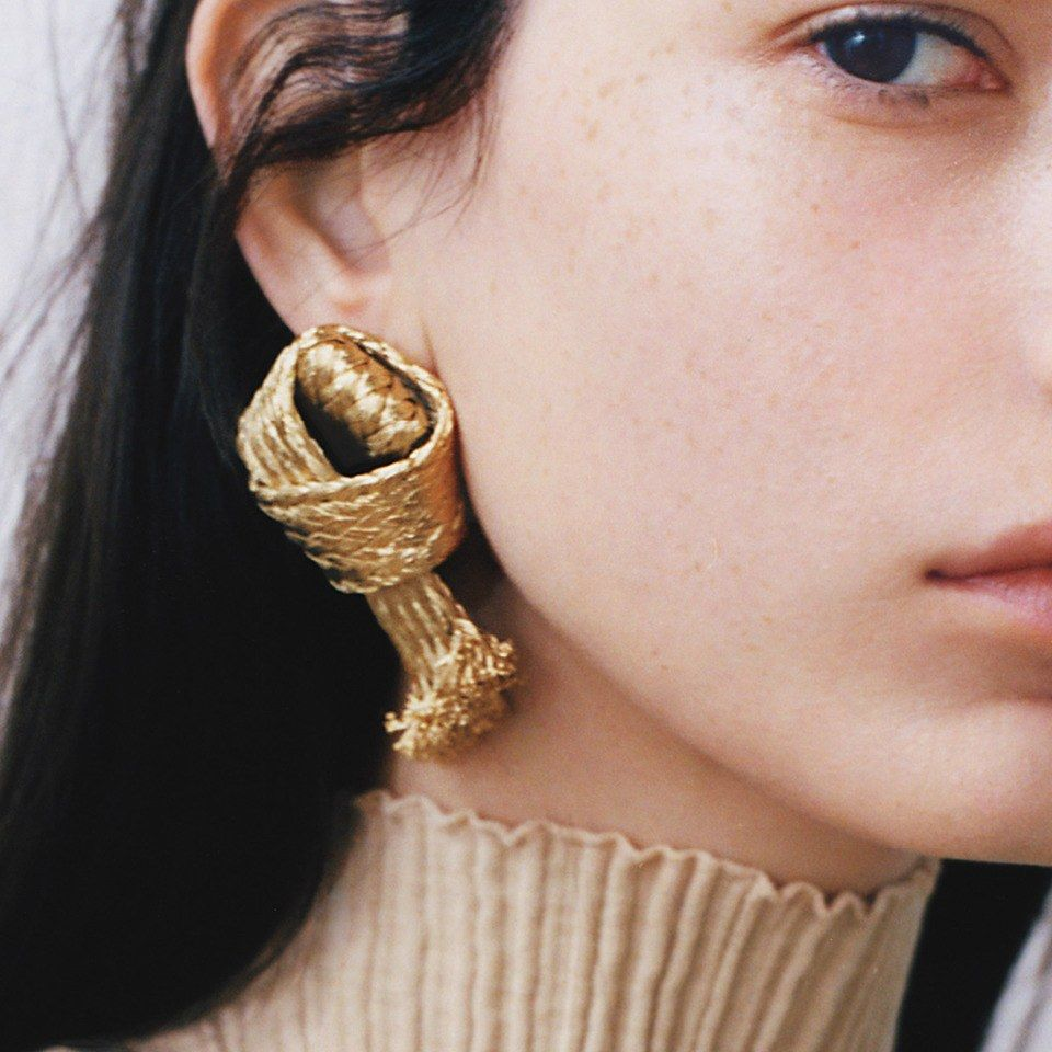 Ten sculptural earrings in gold and silver magazines jewel and