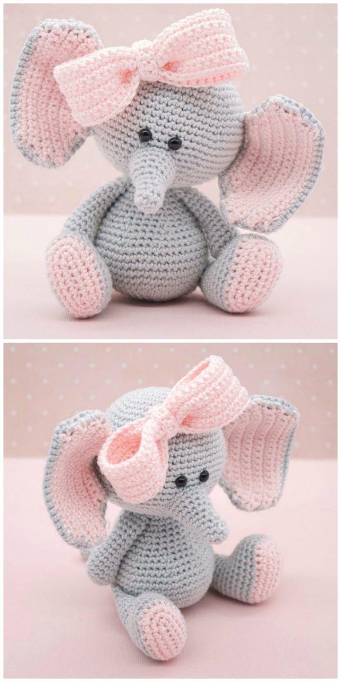 Crochet Elephants - Lots Of Fabulous FREE PATTERNS