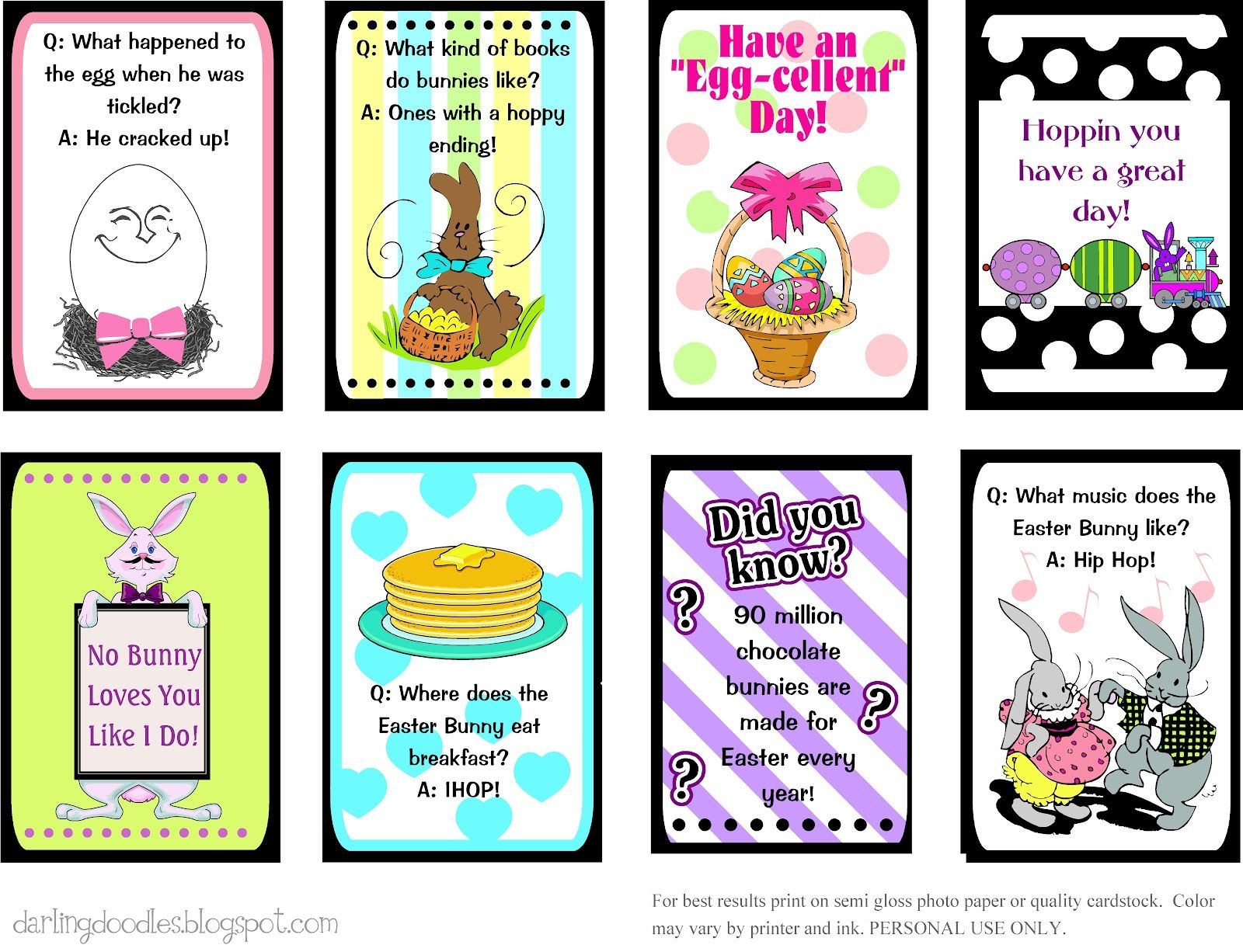 Uncategorized Easter Jokes For Kids printable easter lunch box notes there are also links to st patricks day and