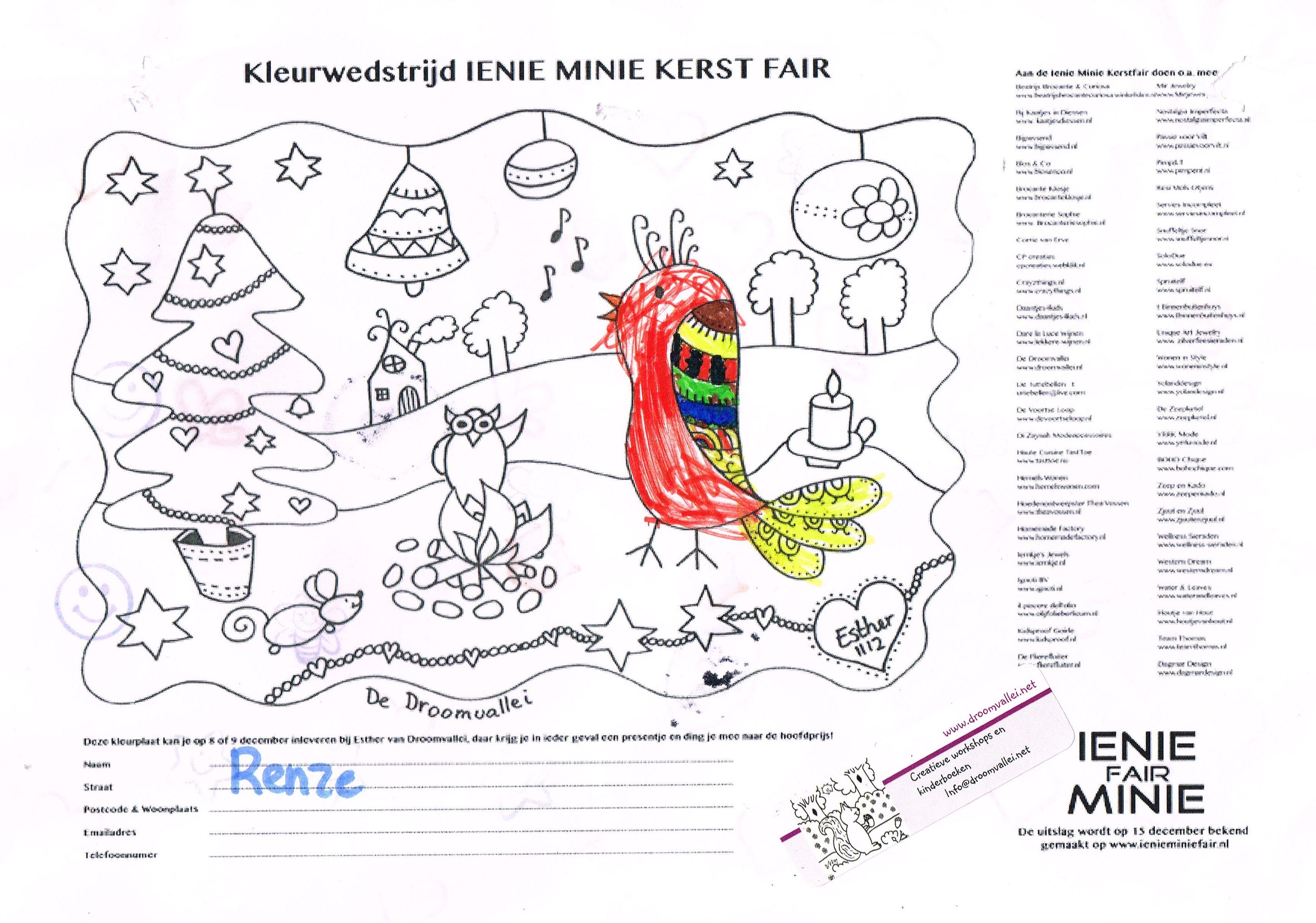Een Inzending Voor De Kleurwedstrijd Van De Droomvallei En De Ienie Miniefair Mooi Like Of Laat Een Reactie Achter De Kleurplaat Met De M Kleurplaten Boeken