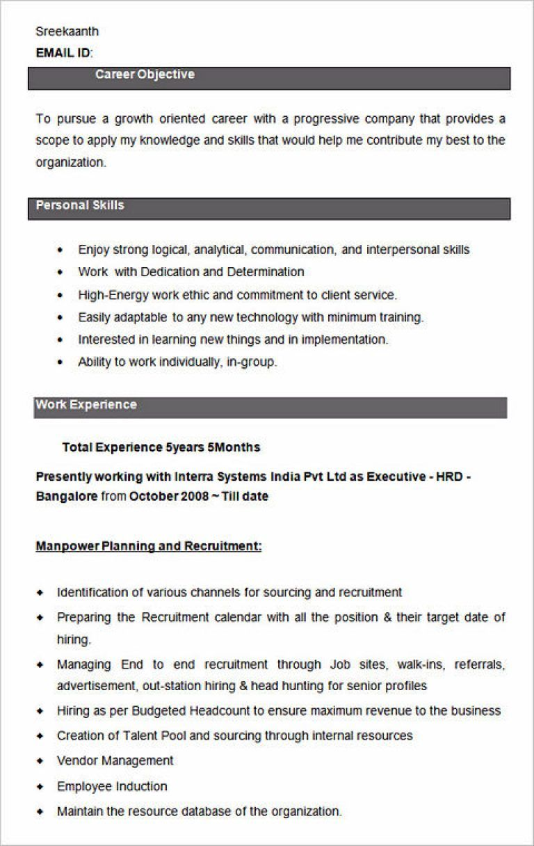 ultimate guide to writing your human resources resume - Hr Resume Format