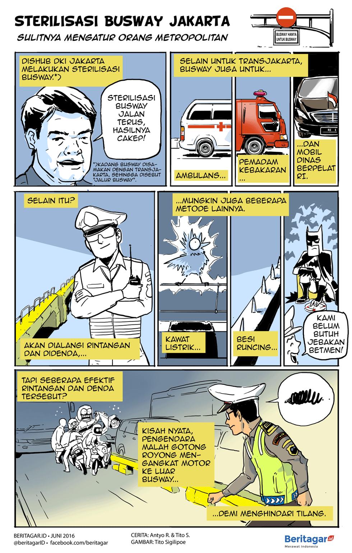 Mengajak Orang Ibu Kota Berlaku Modern Kartun Mobil Orang