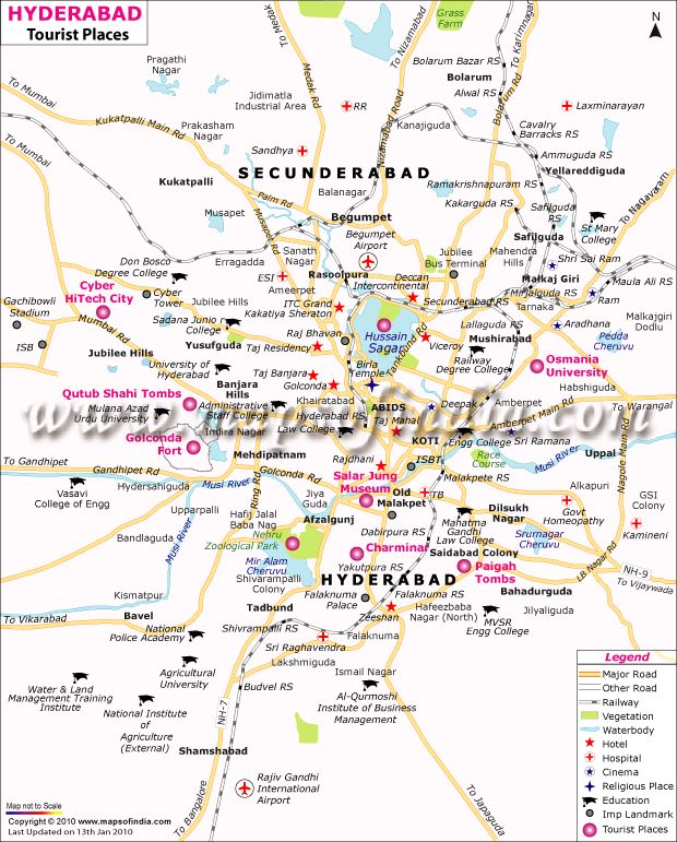 Hyderabad Tourism Places Map The World Pinterest Hyderabad