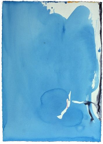 Helen Frankenthaler, Untitled, 1994, Acrylic on paper, 105.4 x 74.9cm.