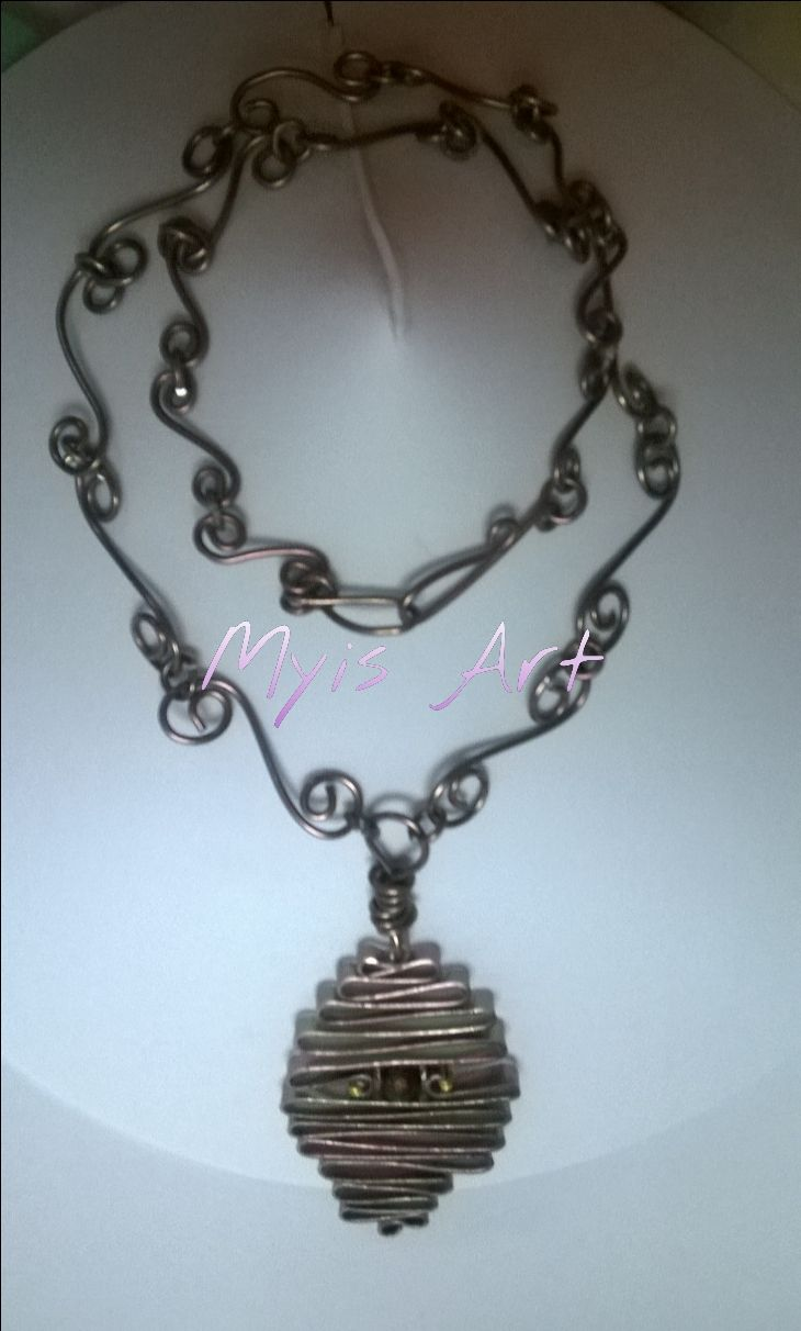 Collar alambre | wire jewerly | Pinterest