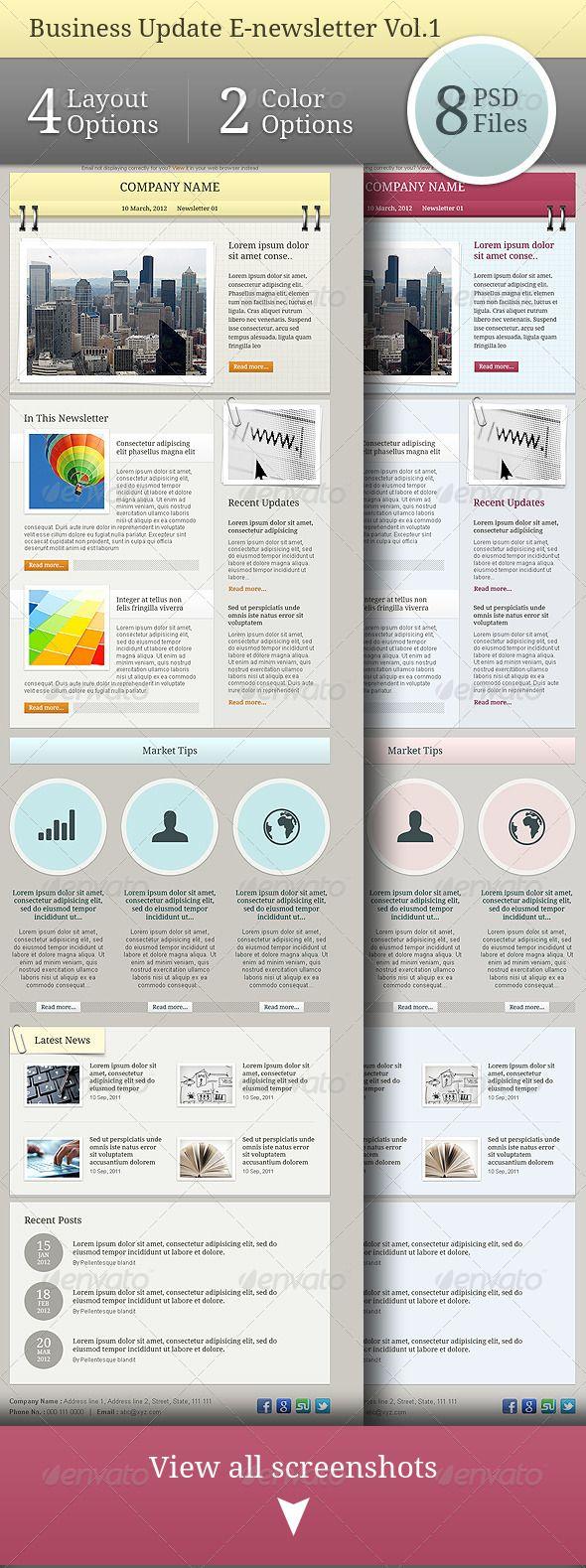 Business Update E-newsletter Vol.01 | Email template design ...