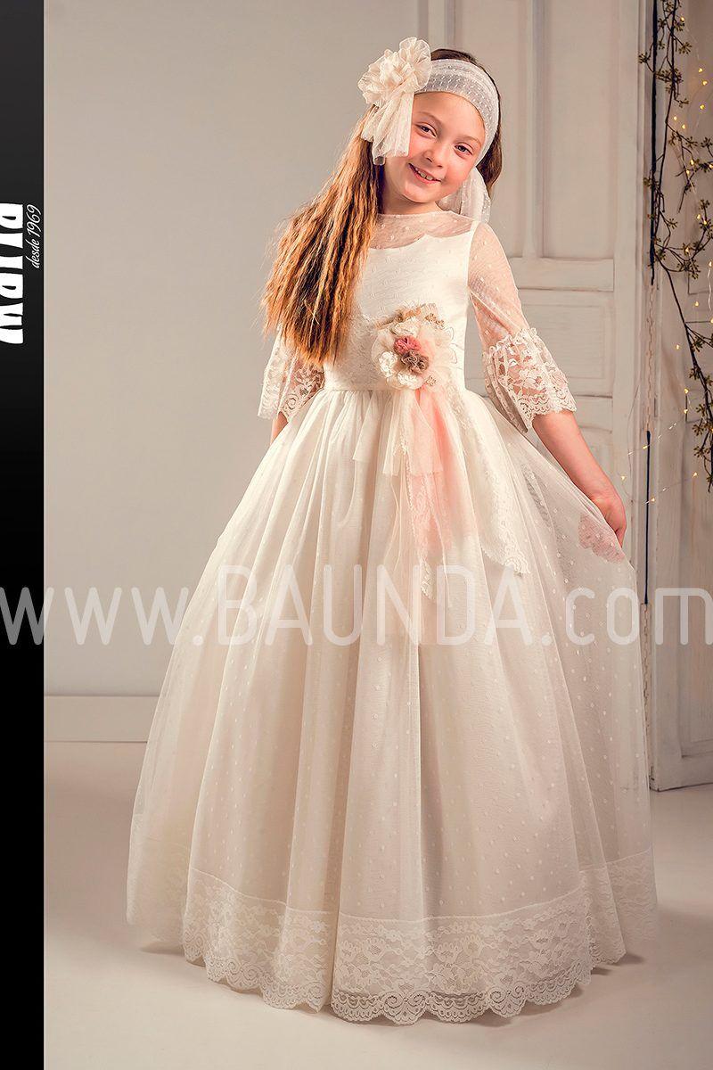 efa0e28e09 Vestido comunión marfil 2019 Marla modelo J179. Precioso y original vestido  de comunión