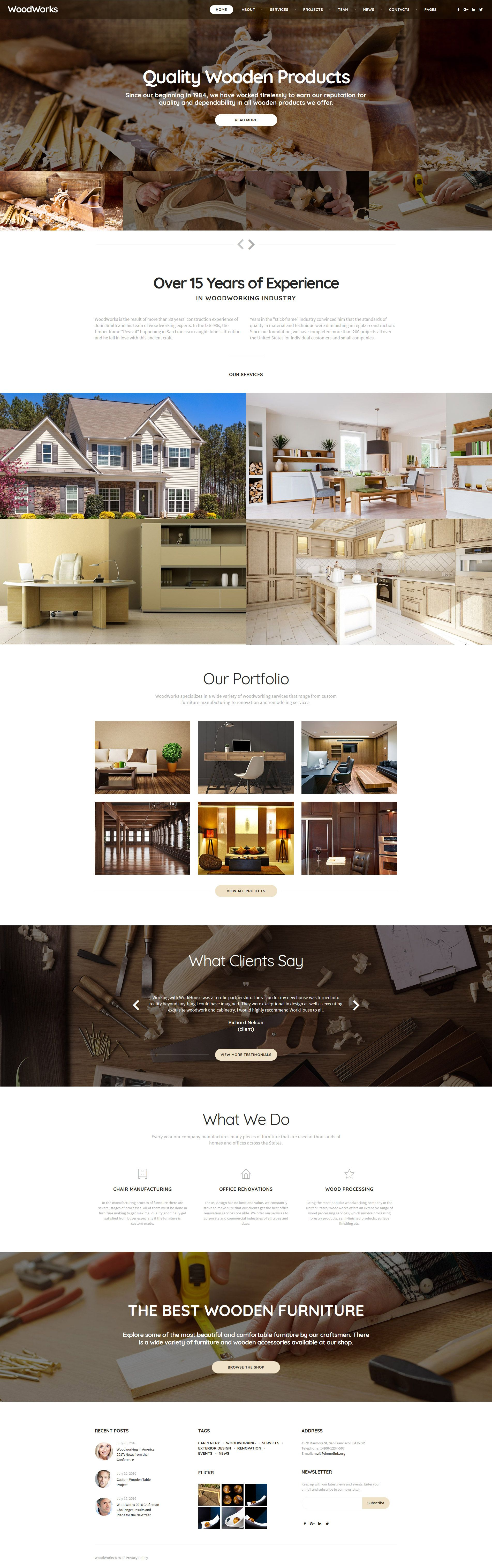 crafter interior multipage classic html bootstrap. Black Bedroom Furniture Sets. Home Design Ideas