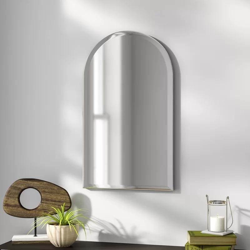 Brayden Studio Frameless Arched Wall Mirror