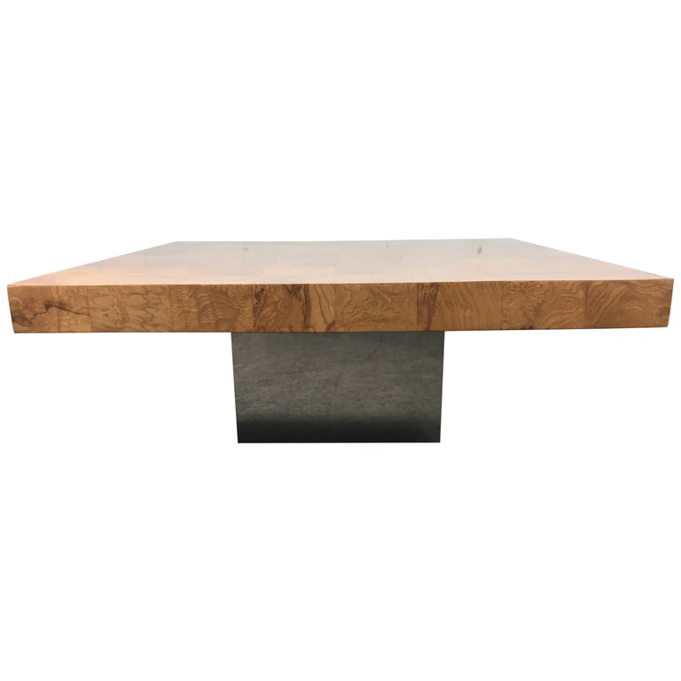 Milo Baughman Coffee Cocktail Table Wood Cocktail American Mid