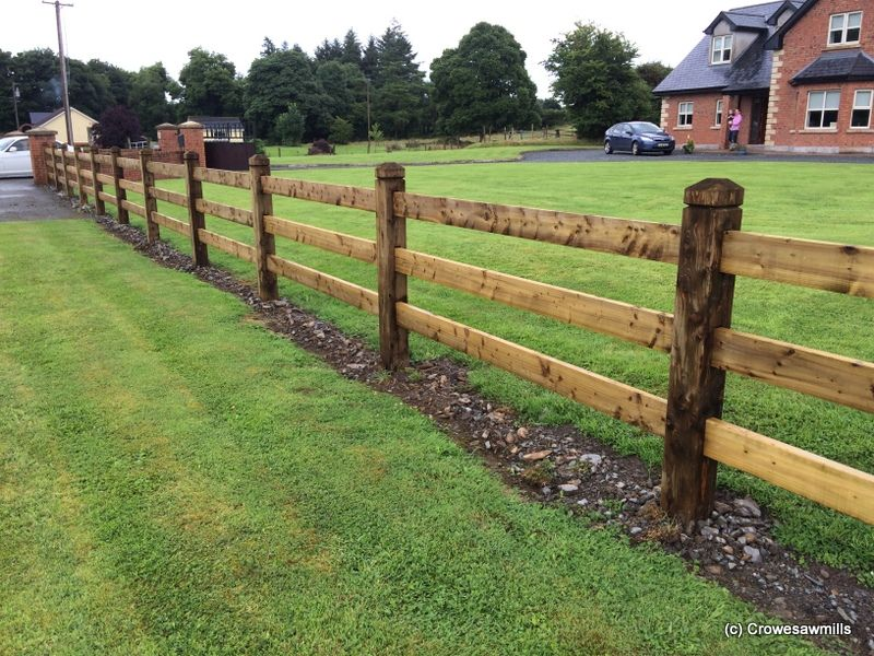 Mortice Fence using 1.8m x 150mm x 150mm Posts and 4.8m x ...