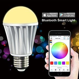 Flux Wifi Smart Led Light Bulb Smartphone Controlled Dimmable Multicolored Color Changing Led Color Changing Lights Smart Light Bulbs Color Changing Lights