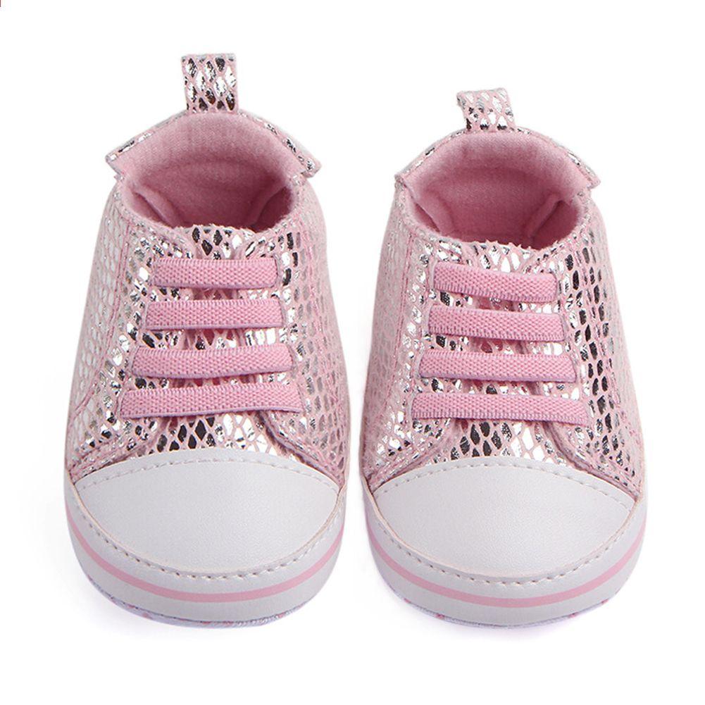 696454a5878 Zapatos de cuna para bebés recién nacidos Zapatillas para niñas Zapatillas  de tenis con cordones para