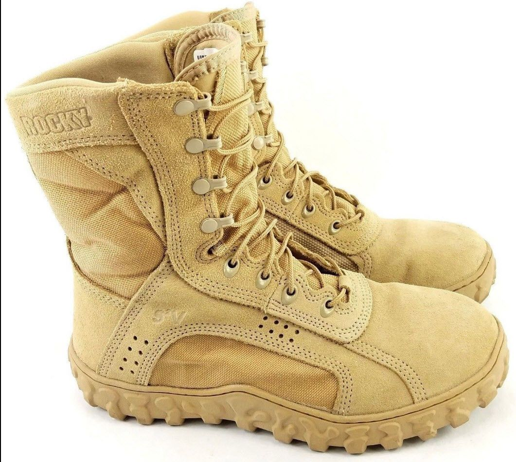 25d1c1e44ff ROCKY S2V Men's Special Ops Boots Desert Tan Military Combat 11 Wide ...