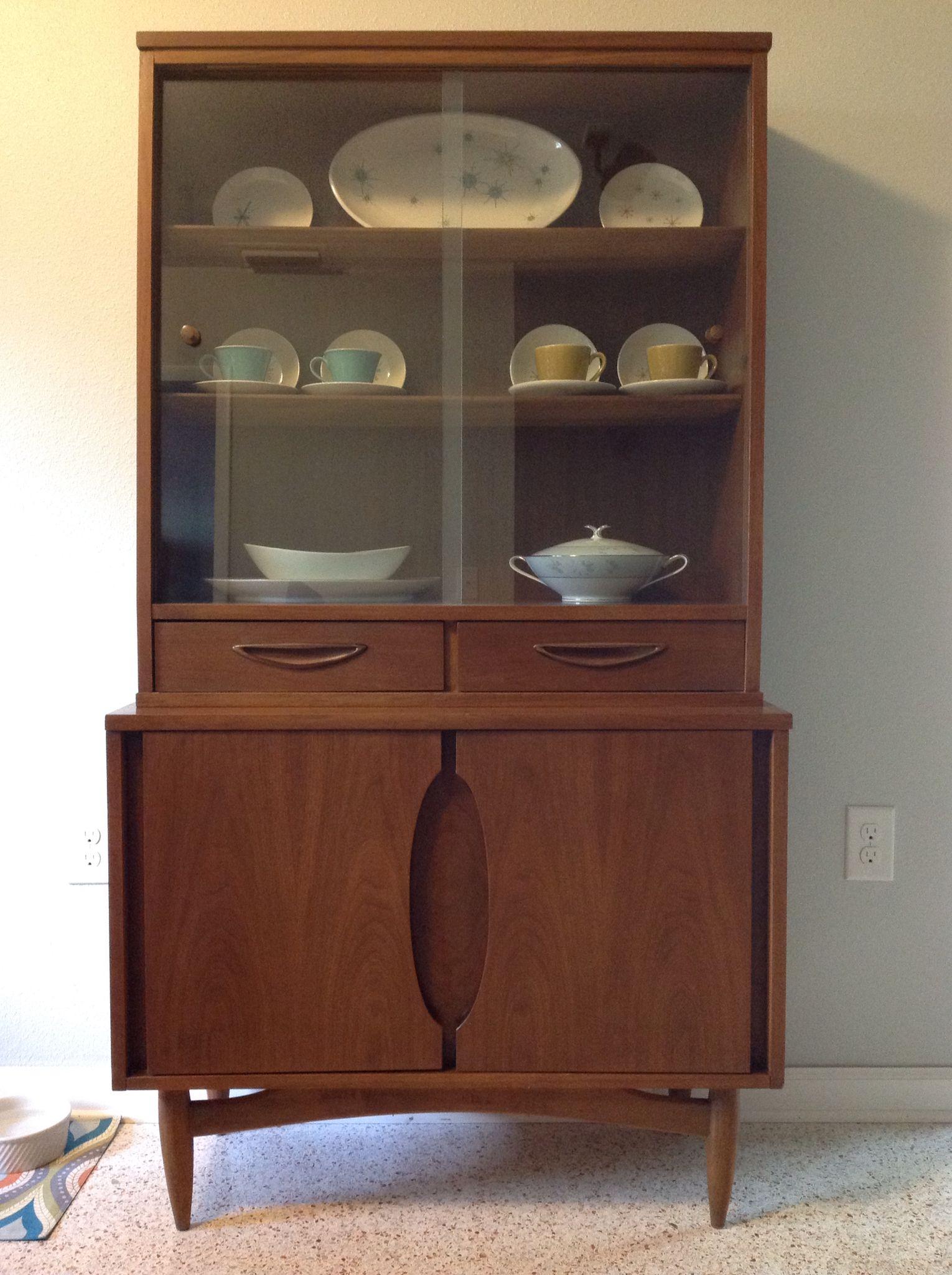 Mid-Century Vintage China Cabinet by Garrison Furniture