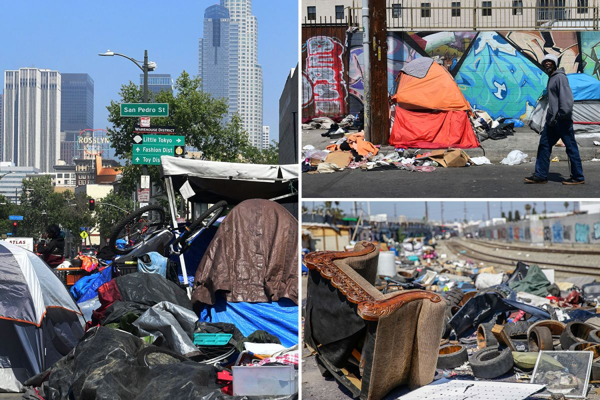 Horrifying Pics Show How Downtown Los Angeles Is Turning Into A Tent City Filled With Piles Of Rubbish And Rodents Skid Row Los Angeles Downtown Los Angeles City