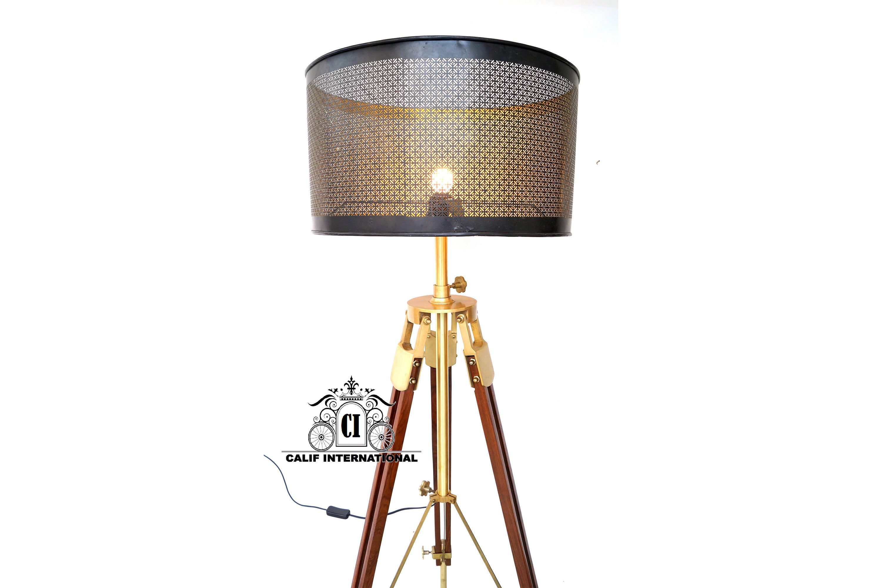 Modern Designer Floor Lamp Shade Lamp Without Shade With Wooden
