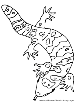 gila monster coloring pages