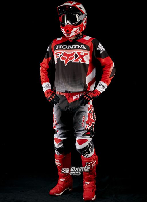 2015 Fox Racing 180 Honda Gear Kit Red 1 Jpg 512 700 Dirt Bike Clothing Bike Leathers Dirt Bike Gear