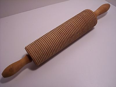 Antique Ribbed Grooved Lefse Rolling Pin 17 Long Norwegian Rolling Pin Rolling Pin Rolls Cooking
