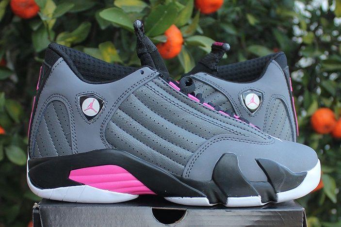 2b7e92adb5c51b Nike Air Jordan XIV 14 Womens Shoes Special Gray Pink White