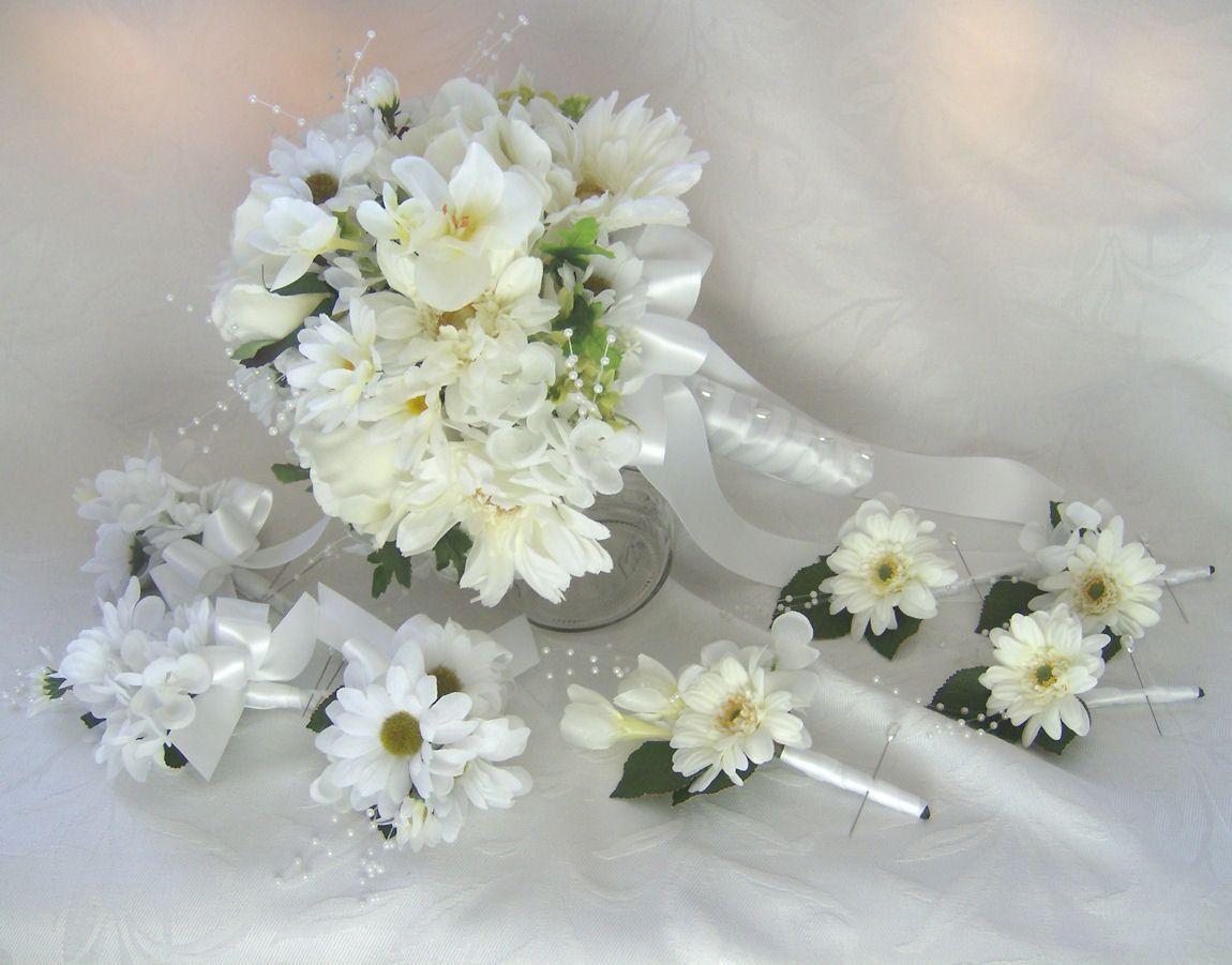 Gerber Daisy Bridal Bouquets Gerbera Wedding Bouquets White