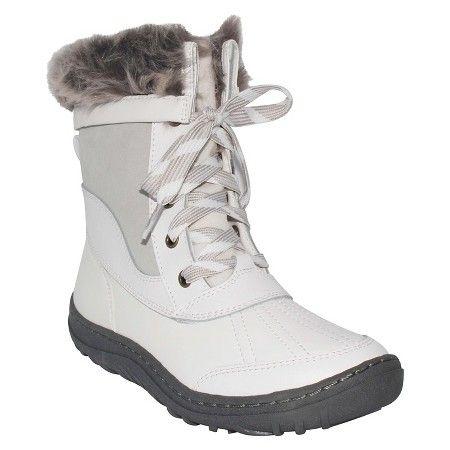 79028e86dbf0f Women s Sabra Winter Boots - White 8 - Merona™   Target