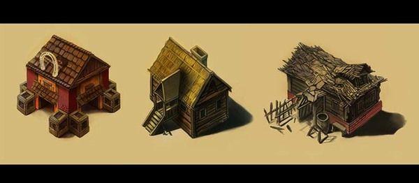Houses by Raveart , via Behance